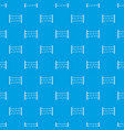 restricted area pattern seamless blue vector image vector image