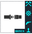 seat belt icon flat vector image vector image