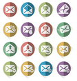 set of mail icons vector image vector image