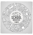 Set of School cartoon doodle objects symbols and vector image vector image