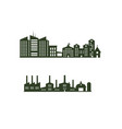 silhouette cityscapes set with isolated white vector image vector image