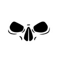 Skull eyes vector image vector image