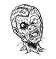 smoking zombie silhouette vector image