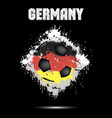 soccer ball in the color of germany vector image vector image