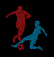 soccer player action vector image vector image