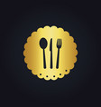 Spoon fork food gold logo