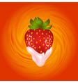 Strawberry and cream swirl vector image vector image