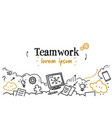successful business strategy teamwork concept vector image