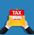 tax debt form icon vector image