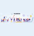 teamwork horizontal vector image vector image