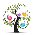 Tree with a birds vector image vector image