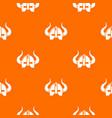 viking helmet pattern orange vector image vector image