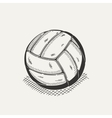Volleyball isolated on a white background vector image vector image