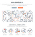 website banner and landing page agricultural vector image