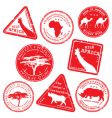 wild Africa stamps vector image vector image