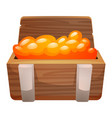 wood box of gold icon cartoon style vector image