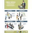 work and training with graphs of company managers vector image vector image