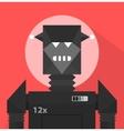 Black Evil Robot Character vector image