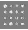 Snowflakes set winter and christmas theme EPS10 vector image