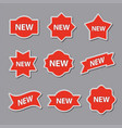 advertising stickers vector image vector image