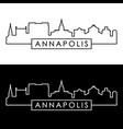 annapolis skyline linear style editable file vector image vector image