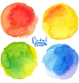 Bright colors watercolor painted stains set vector image vector image