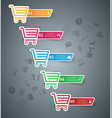 busines infographic cart icon vector image vector image