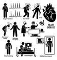 cardiovascular disease heart attack coronary vector image