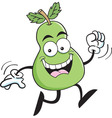 Cartoon pear running vector image vector image