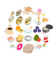 cereal icons set isometric style vector image