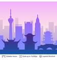 chengdu famous china city scape vector image vector image