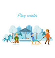children play in playground setup firework rocket vector image vector image
