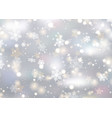 christmas background snowflakes and stars vector image vector image