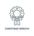 christmas wreath line icon linear concept vector image vector image