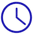 clock icon grunge watermark vector image vector image
