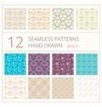 Collection of summer seamless patterns vector image vector image