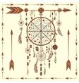 Dream Catcher arrows beads ethnic Indian vector image vector image