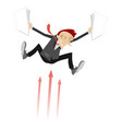 frightened businessman and arrow signs concept vector image vector image
