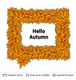 greeting autumn speech bubble vector image