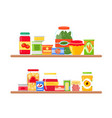 grocery store shelves full vector image vector image