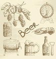 Hand drawn beer sketch vector image vector image