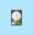 Hdd disk flat design style