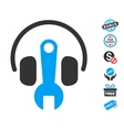 Headphones Tuning Wrench Icon With Free Bonus vector image vector image