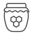 honey line icon food and sweet jar sign vector image vector image