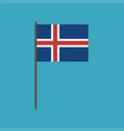 iceland flag icon in flat design vector image