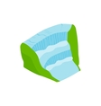 Iguassu Falls icon isometric 3d style vector image vector image