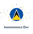 independence day of saint lucia patriotic banner vector image vector image