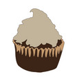 isolated colored cupcake vector image vector image