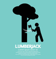 Lumberjack With Axe Symbol vector image vector image