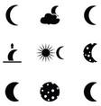 moon icon set vector image vector image
